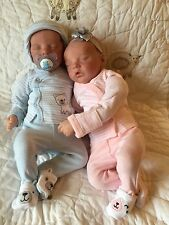 Reborn Baby Doll Twin A Twin B Bonnie Brown Completed OOAK Twins Preemie