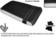 BLACK & WHITE CUSTOM FITS HONDA VTR RVT 1000 RC51 SP1 REAR LEATHER SEAT COVER