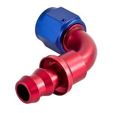 "APS 90 Degree Push On Fit Hose Fitting - Fast Flow Swivel -10 JIC AN10 7/8"" UNF"