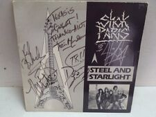 Shok Paris Band Autographed Vinyl Record Sleeve Steel & Starlight Promo