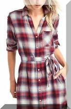NWT GAP PEDLETON sz Large tall LT RED PLAID SHIRTDRESS DRESS 2016!