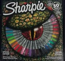 Sharpie Permanent Markers, Special Edition, Assorted, 30 Count plus Bonus book