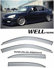 WellVisors Aerodyn Series Side Window Visors Deflector For 01-05 Honda Civic 4Dr