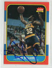 Herb Williams 1986 1987 Fleer autographed signed card Indiana Pacers