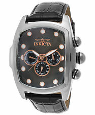 Invicta 23199 Men's Sp. Ed. Lupah Multi-Fun. Black Leather and MOP Dial SS