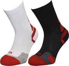 Wilson Junior Tennis Crew Sock - 2 Pack (WRW1B3W30)