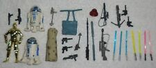 Vintage 1990s STAR WARS Kenner 27 Piece FIGURE/WEAPONS/ACCESSORY/LIGHTSABER Lot