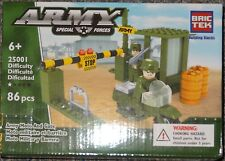 Army Moto and Gate BricTek Building Block Construction Toy Brick Motorcycle