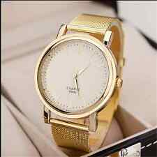 2015 Fashion gold metal mesh belt quartz watch men and women dress watch DG