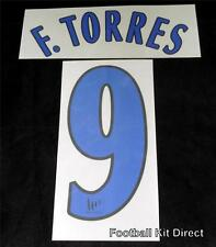 Official Atletico Madrid F.Torres 9 2005/06 Football Shirt Name/Number Set Home