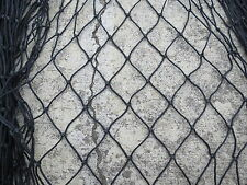 6 feet x 9 feet BLACK SALMON ALASKAN SEINE NET FISHING  FISH NETTING (#N276)