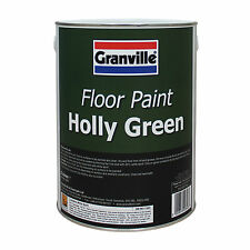 Granville Floor Paint Industrial Garage Concrete Metal Timber 5L - HOLLY GREEN