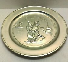 Vintage Metawa Holland 94% Real Pewter 1st Edition of 5000 Collector Plate