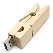 Legno Peg forma 16gb Novità USB Flash Drive Memory Stick Regalo Present UK STOCK