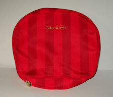 Crabtree & Evelyn Makeup Cosmetics Bag Red Striped Zipper