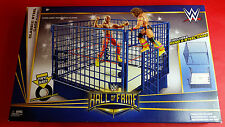 NEW SEALED WWE WWF WF Mattel Hall of Fame Classic Steel Blue Cage Ring Playset