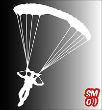 SKYDIVING PARACHUTE Sticker Decal 150mmH Wall Art Car Ute Aircraft =New Size=o)