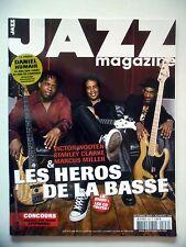 """JAZZ MAGAZINE #596 """"Victor Wooten,Stanley Clarke,Marcus Miller,Daniel Humair"""""""