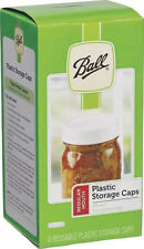 Ball Regular Mouth Plastic Storage Lids ~ Mason Canning Jar Caps Lot of 8 NEW