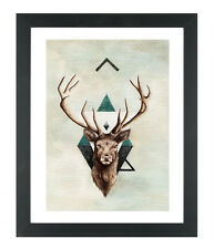 Stag Elk Print Fashion Poster Home Interior Wall Picture Decoration A4 Size