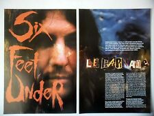 COUPURE DE PRESSE-CLIPPING :  SIX FEET UNDER [4pages] 09/2001 Terry Butler