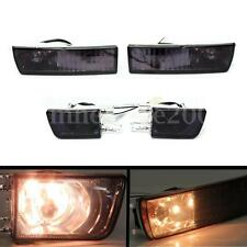 Pair Front Bumper Smoke Lens Fog Light Signal Lamp For VW Golf Jetta Mk3 93-98