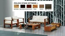 NEW Stylish Wooden Sofa set 2 + 1 + 1 with 1 table !!