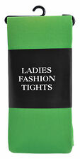 Adult Ladies Fashion Tights Green Elf Xmas Christmas Party Fancy Dress Costume
