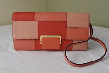 Michael Kors Pink Grapefruit Patchwork Cynthia Large Clutch Crossbody