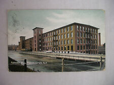 VINTAGE POSTCARD THE ARMORY MILL IN MANCHESTER NEW HAMPSHIRE
