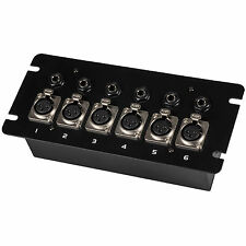 Floor / Surface Mount Stage Box with Six XLR Female and Six