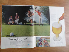 1959 Beer Belongs Ad Golfing Theme  Fifteen-Footer Drops right In