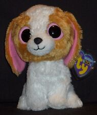 """TY BEANIE BOOS - COOKIE the 6"""" DOG - NEAR MINT TAG - MISSING HEART"""