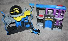 Imaginext Batman Command Center Gotham City Jail Motorcycle Toy Lot Fisher Price