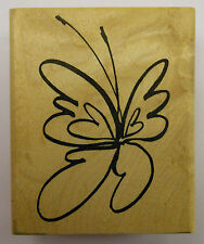 Brushed Butterfly Rubber Stamp by DeNami Design