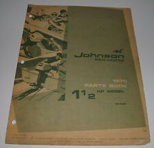 Parts Catalog Johnson Sea Horse Ersatzteilkatalog 1 1/2 HP Models Stand 1970!