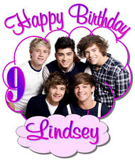 ONE DIRECTION HAPPY BIRTHDAY T-SHIRT Personalized Any Name/Age Toddler to Adult