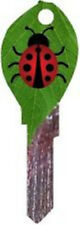 Lady Bug on a Leaf  Blank House Key, Key Blank, KW1,KW11,KW10, adorable
