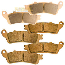 Front Rear Sintered Brake Pads 2001-2011 Honda GL 1800 1800A ABS Goldwing
