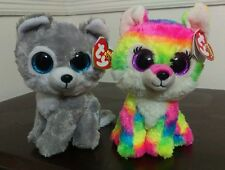 "Ty Beanie Boos Set River and Warrior 6"" - Great Wolf Lodge Exclusive - New Rare"