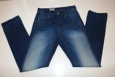 G STAR RAW DENIM- NEW RADAR SLIM- BLUE COTTON SLIM FIT JEANS-  W30 L34 LONG -NEW