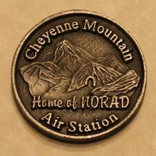 NORAD Air Station Cheyenne Mountain USPSPACECOM Air Force Challenge Coin