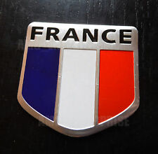 Chrome Style FRANCIA FRANCESE FLAG TRICOLOUR BADGE PER AUTO FURGONI CAMPER SCOOTER