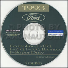 1993 Ford Truck Shop Manual CD F150 F250 F350 Pickup Bronco F-Super Duty Service