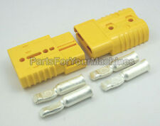 2 CONNECTOR PLUGS+CONTACTS 1 AWG, ANDERSON, SB175A 600V, BIG YELLOW, CHARGERS