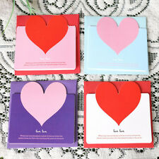 New Lovely 5pcs Heart-shaped Birthday Christmas Greeting Message Card Envelope
