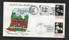 VAN NATTA NORTH CAROLINA STATEHOOD BICENTENNIAL HAND PAINTED FIRST DAY COVER FDC