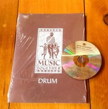 MUSIC TOGETHER DRUMS SONG BOOK & CD  PRESCHOOL HOMESCHOOL CHILDREN'S DAYCARE