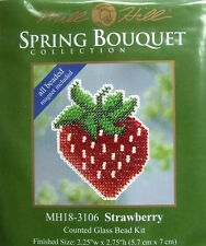 Mill Hill Counted Cross Stitch Bead Kit 'Strawberry' Magnet 18-3106