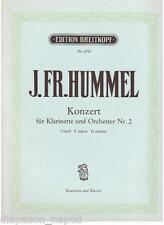 Hummel: Concerto Per Clarinetto e Orchestra N.2 - Breitkopf